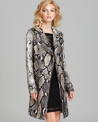 Diane Von Furstenberg Coat Sally Animal - Lyst