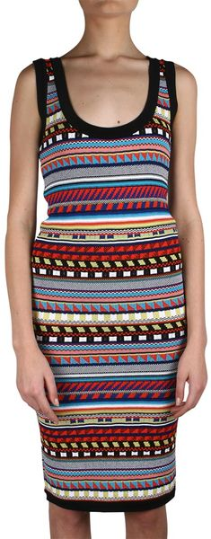 Emilio Pucci Viscose and Jacquard Silk Dress - Lyst