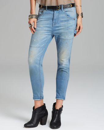 Free People Jeans Boyfriend Carpenter in Aquamarine - Lyst