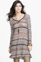 Free People Lifes A Beach Open Knit Tunic Sweater - Lyst