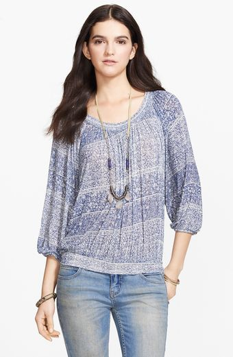 Free People Moss Print Blouson Top - Lyst