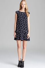 French Connection Dress Snow Bow Silk - Lyst
