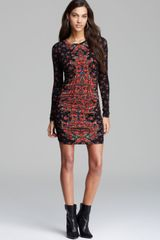 Guess Dress Mini Rose Print - Lyst