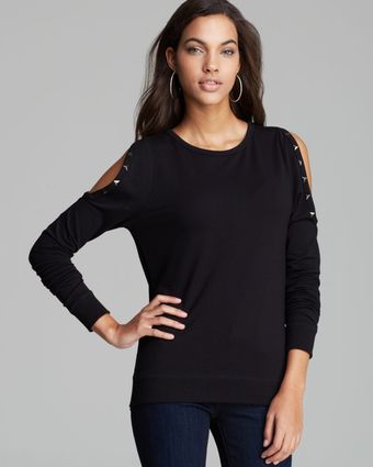 Guess Pullover Cold Shoulder Stud - Lyst