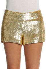 Haute Hippie Sequin Mini Shorts - Lyst