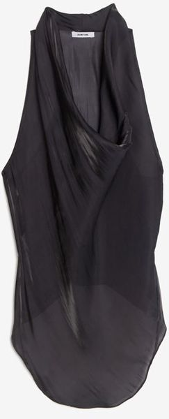 Helmut Lang Exclusive Cowl Top Liquid Sheen - Lyst