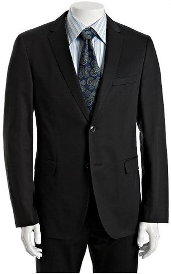 Hugo Boss Navy Cotton Eagle 2shade 1 2button Suit with Flat Front Pants - Lyst