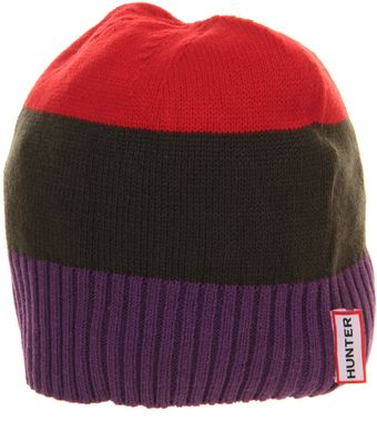 Hunter Colourblock Beanie - Lyst