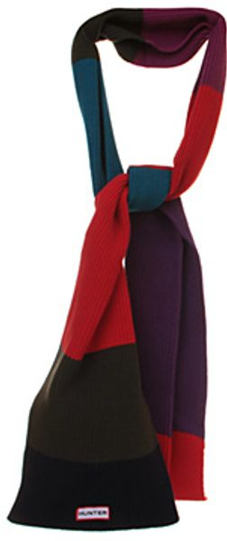 Hunter Colourblock Scarf - Lyst