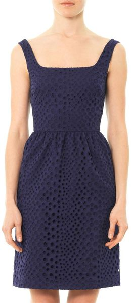 Issa Broderie Anglaise Dress - Lyst