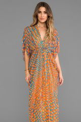 Issa Chiffon Maxi Dress in Orange - Lyst