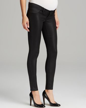 J Brand Maternity Jeans Legging in Lacquered Black Quartz - Lyst