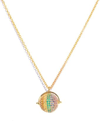 Jade Jagger Rainbow Stone Gold Plated Ball Necklace - Lyst