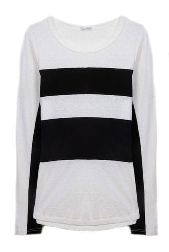 James Perse Block Stripe Top - Lyst