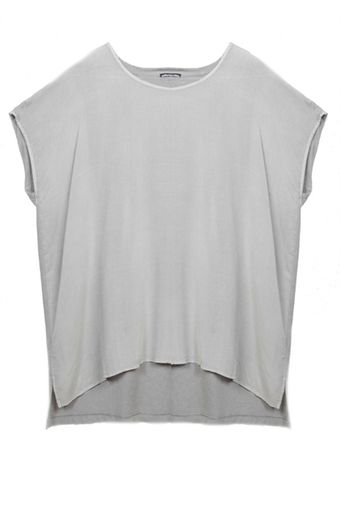 James Perse College Top Steel Grey - Lyst