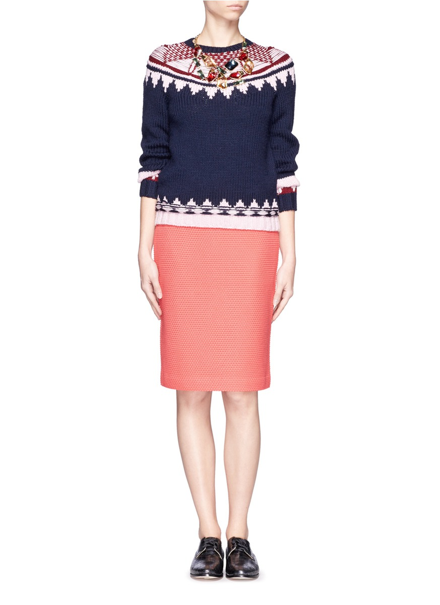 J.crew Hand Knit Fair Isle Sweater | Lyst