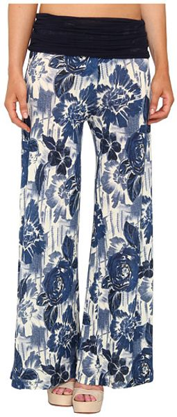 Jean Paul Gaultier Flower Viscose Palazzo Pants - Lyst