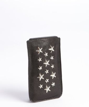 Jimmy Choo Black Star Studded Leather Trent I-Phone Case - Lyst