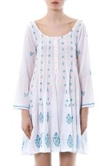 Juliet Dunn Embroidered Tunic Kaftan - Lyst