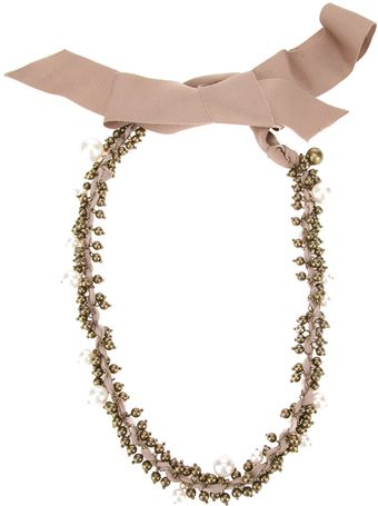 Lanvin Beaded Necklace - Lyst