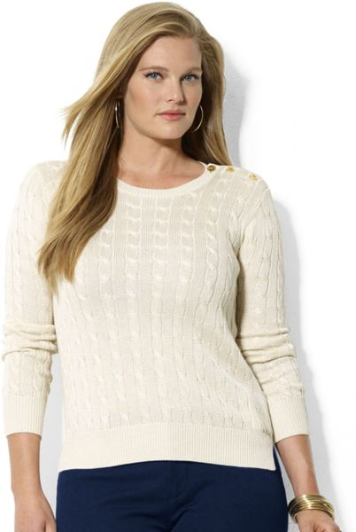 Cable Knit Sweater Dress Plus Size