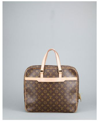 Louis Vuitton Preowned Brown Monogram Canvas Pegase Documents Briefcase - Lyst