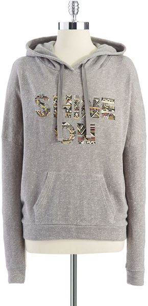 Lucky Brand Tribal Decal Hoodie - Lyst