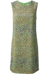 M Missoni Leopard Print Shift Dress - Lyst