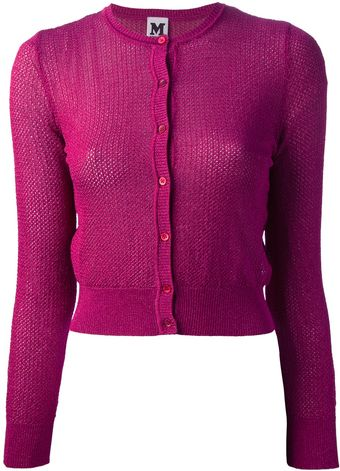 M Missoni Crocheted Cardigan - Lyst