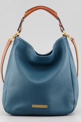 Marc By Marc Jacobs Softy Saddle Large Hobo Bag Blue - Lyst