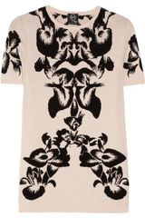 McQ by Alexander McQueen Intarsia Stretch Knit Top - Lyst