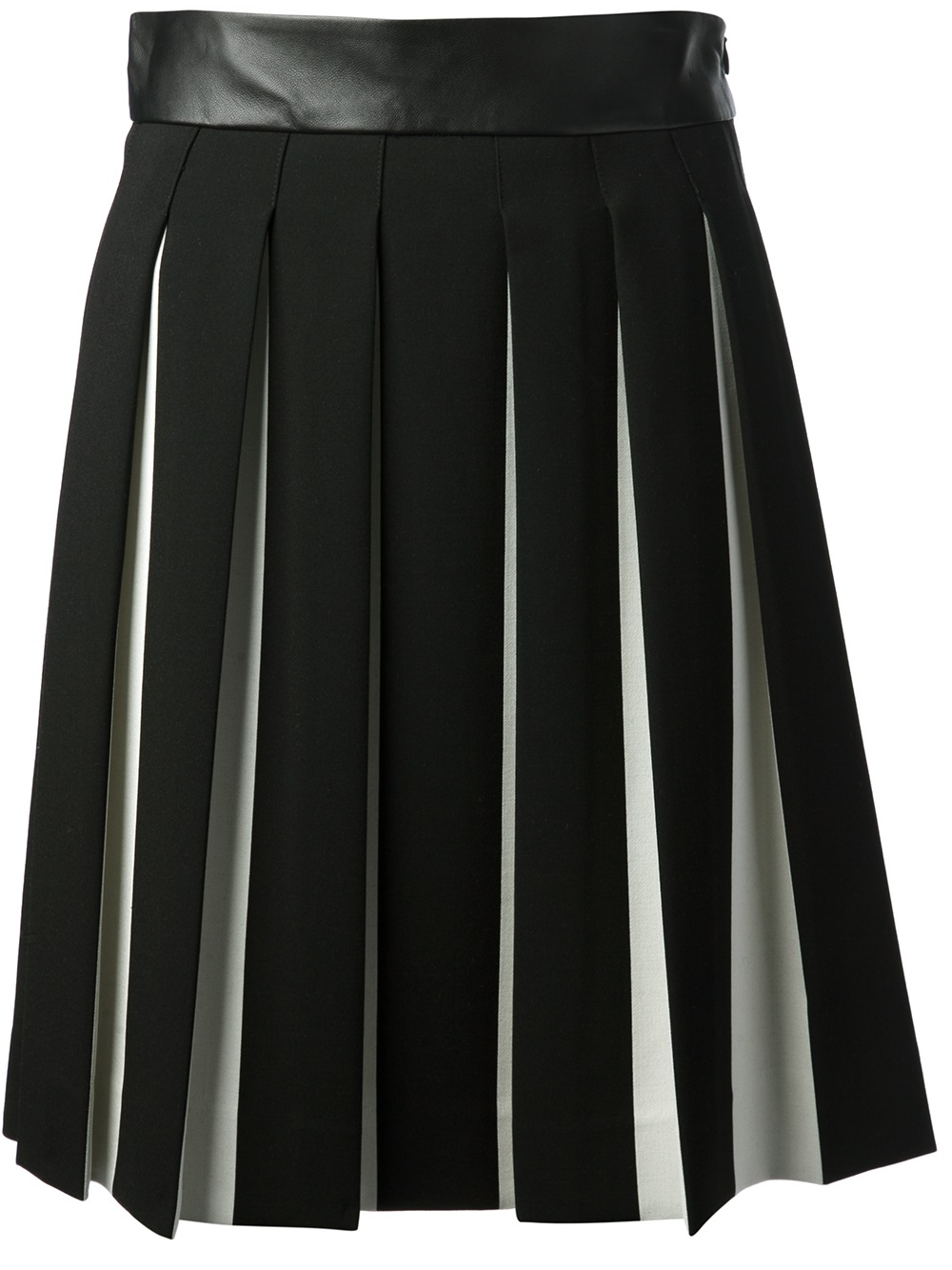 milly box pleat skirt in black lyst