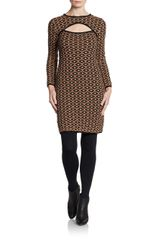 Missoni Long Sleeve Cut-out Knit Dress - Lyst