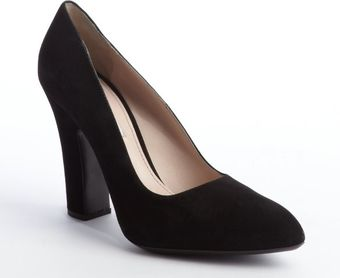 Miu Miu Black Suede Pointed Toe Pumps - Lyst