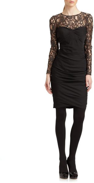 Moschino Cheap & Chic Lace Illusion Dress - Lyst