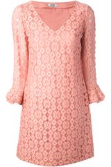 Moschino Floral Lace Dress - Lyst