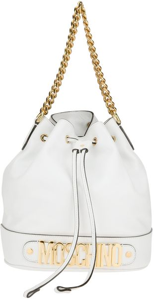 Moschino 30 Year Collection Logo Bucket Bag - Lyst