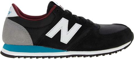 New Balance 420 Black/Grey Trainers in Black | Lyst