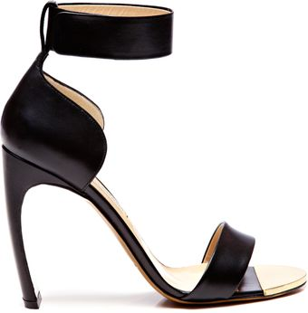 Nicholas Kirkwood Curved Heel Leather Anklestrap Sandals - Lyst