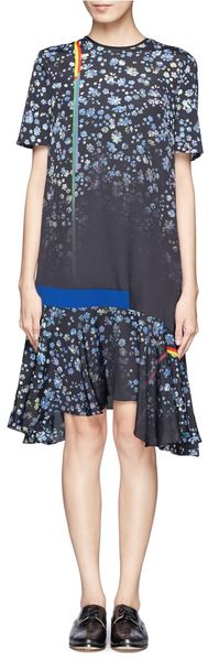 Preen Floral Print Flared Dress - Lyst
