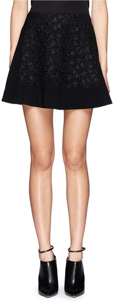 Rag & Bone Ellinor Eyelet Flare Skirt - Lyst