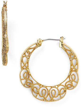 Ralph Lauren Lauren Lovely Lace Open Work Hoop Earrings - Lyst