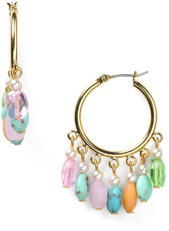 Ralph Lauren Lauren Half Moon Hoop Earrings - Lyst