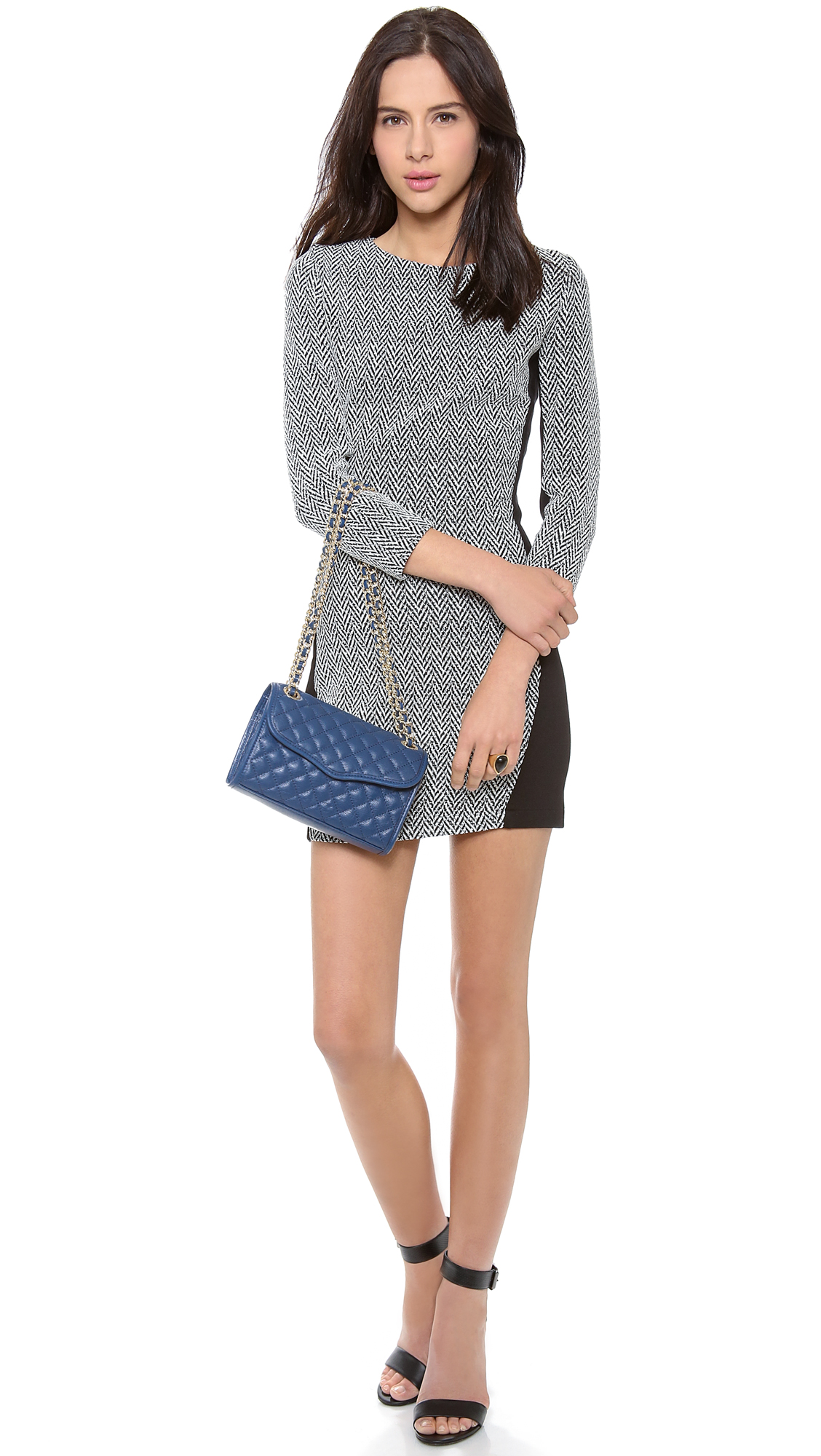 Rebecca Minkoff Quilted Mini Affair Bag Navy In Blue Navy