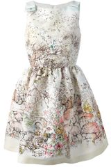 RED Valentino Printed Sleeveless Dress - Lyst