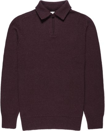 Reiss Hardy Collared Wool Blend Jumper - Lyst