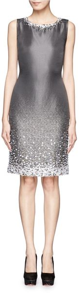 St. John Embellished Sleeveless Dress - Lyst