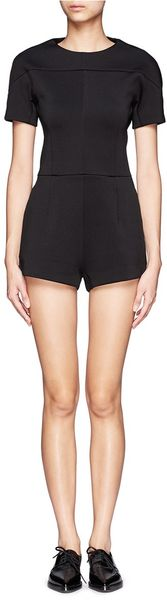 T By Alexander Wang Neoprene Rompers - Lyst