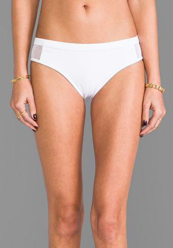 T By Alexander Wang Mesh Combo Bottoms in White - Lyst