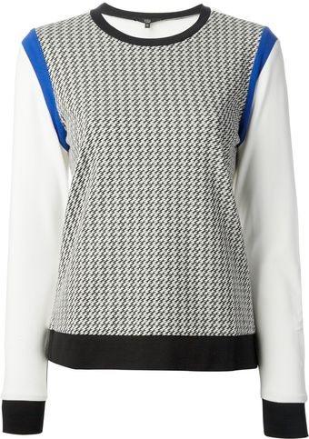 Tibi Colour Block Sweater - Lyst